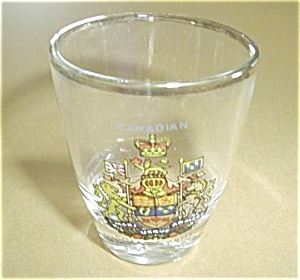CANADIAN COAT OF ARMS SHOT GLASS (Image1)