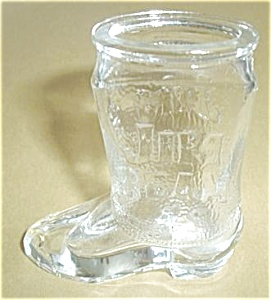 Jeam Beam Tall Boy Boot Shot Glass