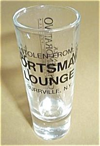 SPORTSMAN LOUNGE BURRVILLE NEW YORK SHOT GLASS (Image1)