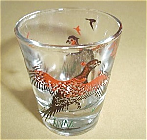 VINTAGE PHEASANTS FLYING SHOT GLASS (Image1)