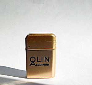 VINTAGE BOWERS ALUMINUM LIGHTER ADV.OLIN ALUMINUM (Image1)