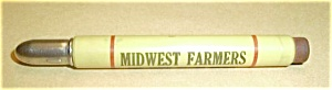 BULLET ADVERTISING PENCIL CIRCA 40`S MIDWEST FARMERS LI (Image1)