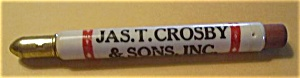 JAS. T. CROSBY & SONS INC. ST. PAUL MINN. BULLET PENCIL (Image1)