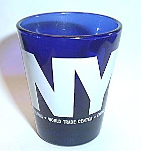 COBALT BLUE N.Y.C. SHOT GLASS (Image1)