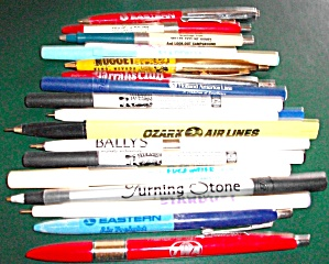 Old Pen(S) Advertising Airline(S) & Casino(S) & More