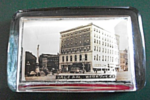1920 - 30`S Y.M.C.A. WATERTOWN NEW YORK  PAPERWEIGHT (Image1)