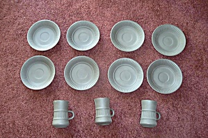 11 PC DANSK BROWN CUP & SAUSERS NICE (Image1)