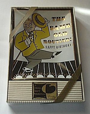 VINTAGE GLASS ASHTRAY IN BOX THE SAME OLD ROUTINE (Image1)