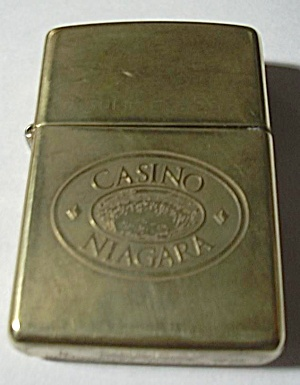OLD CASINO NIAGARA SOLID BRASS ZIPPO LIGHTER (Image1)