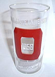 NOV 24 1958 OHIO STATE UNIVERSITY FOOTBALL TUMBLER RARE (Image1)