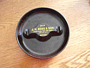 1950`S BULLSEYE ASHTRAY J.H. ROSS & SON LOWVILLE NY (Image1)