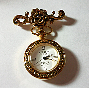AVON 2000 WATCH BROOCH NEW OLD STOCK (Image1)