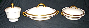 3 PC LENOX  LOWELL CHINA 2 COVERED DISHES  CANDY DISH (Image1)