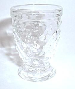 OLD PRESS HOBNAIL PEDESTAL VINTAGE SHOT GLASS (Image1)