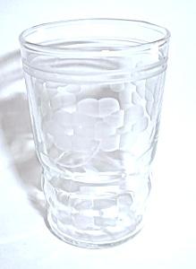 VINTAGE ACID ETCHED FLORAL SHOT GLASS (Image1)