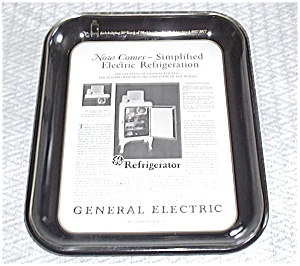 G.E. BLACK TRAY 1ST AD REFRIGERATOR 1927 (Image1)