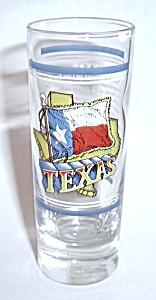 VINTAGE TEXAS DOUBLE SHOT TALLBOY SHOT GLASS (Image1)