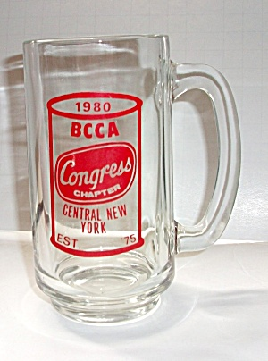 Vintage 1980`s Beer Can Logo Bcca Mug Congress Chapter