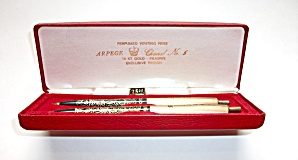 Vintage Retro 14 Kt Filagree Perfumed Writing Pen Set  (Image1)