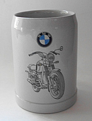 Rare Vintage 1960`s B M W Motorcycle Mug West Germany