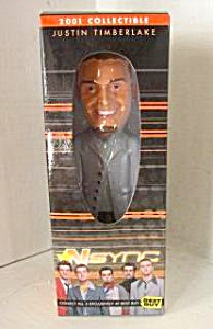 "2001 NSYNC 9"" JUSTIN TIMBERLAKE BOBBLE HEAD DOLL I (Image1)"