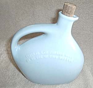 Mohawk Corp Liquor Pottery Jug Blue (Image1)
