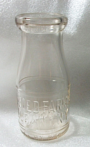 Vintage Embossed Half Pint United Farms Albany N.y.