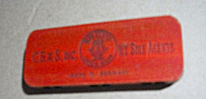 VINTAGE BRUNO GERMAN HARMONICA ADVERTISING 2 SIDED PLAY (Image1)
