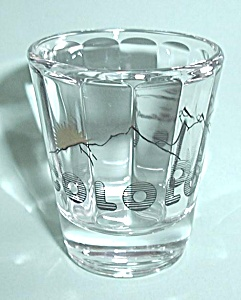 COLORADO  CONCAVED LINED SHOT GLASS (Image1)