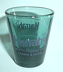 HARRAH`S  CASINO & HOTEL NORTH KANSAS CITY SHOT GLASS (Image1)