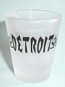 VINTAGE FROST DETROIT SHOT GLASS (Image1)