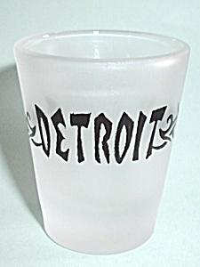 VINTAGE FROST DETROIT SHOT GLASS (Image1)