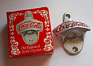 Vintage Coca Cola Wall Mount Bottle Opener W/box