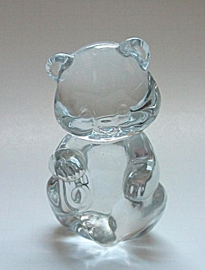 VINTAGE FENTON  CLEAR GLASS BEAR (Image1)