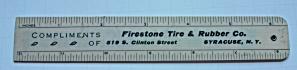 VINTAGE FIRESTONE TIRES 6 & 12 FOLDING RULER (Image1)