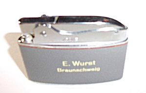 VINTAGE KRONE 1950`S ADVERTISING LIGHTER E. WURST (Image1)