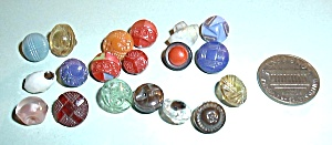 19 Vintage Old Glass Diminutives Assorted