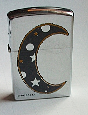 1995 A.A.D.L.P QUARTER MOON POCKET LIGHTER (Image1)