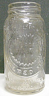 1920's Small Horlick's Malted Milk Embossed Glass Jar (Image1)