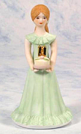 ENESCO GROWING UP BIRTHDAY GIRL BRUNETTE AGE 11 (Image1)