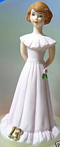 ENESCO GROWING UP BIRTHDAY GIRL BRUNETTE AGE 13 (Image1)
