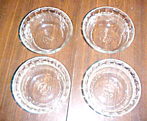 4 VINTAGE CLEAR GLASS PYREX DESERT CUPS (Image1)