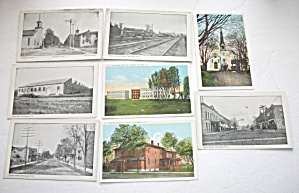 8 VINTAGE 1930`S OR OLDER WAYLAND NEW YORK POSTCARDS  (Image1)