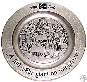 KODAK 1980 100 YEAR COLLECTOR PLATE METAL ALUMINUM  (Image1)