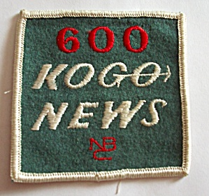 VINTAGE  600 KOGO NEWS NBC SHIRT ARM PATCH (Image1)