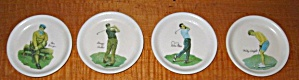Vintage 1960`s set of 4 Wislon Golf Coasters (Image1)