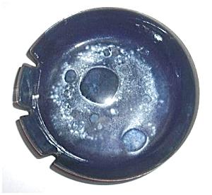 BLUE ENAMEL ART DECO ASHTRAY (Image1)