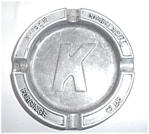 OLD KAISER COMMERICAL FORGINGS CLUB ASHTRAY (Image1)