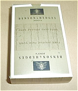 BENSON & HEDGES 100`S PLAYING CARDS UNOPENED (Image1)