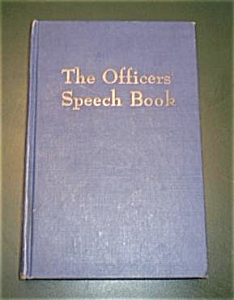 THE OFFICER`S SPEECH BOOK (Image1)